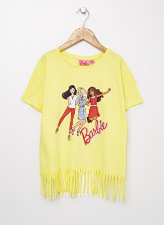 Barbie Kız Çocuk Baskılı Sarı T-Shirt