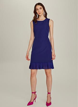 NG Style Kolsuz Lacivert Elbise