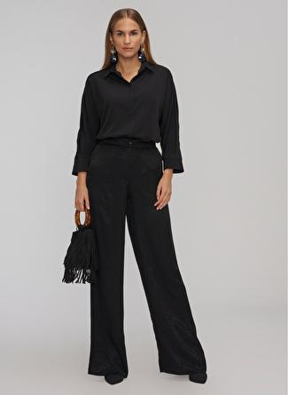 People By Fabrika Geniş Kesim Siyah Pantolon