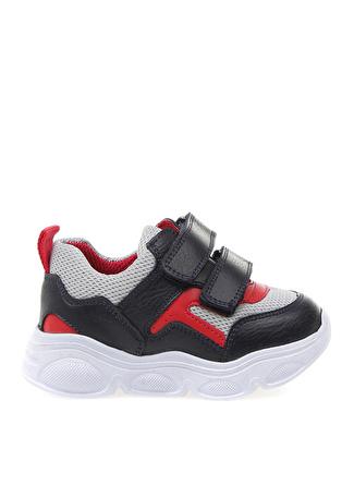Mammaramma Siyah - Kırmızı Yürüyüş Ayakkabısı