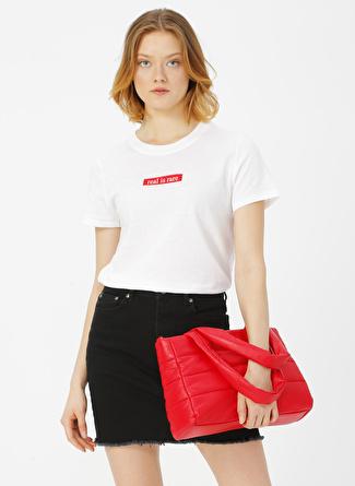 Only Beyaz Baskılı T-Shirt