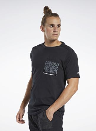 Reebok FK6308 Training Supply Graphic Pocket Erkek T-Shirt