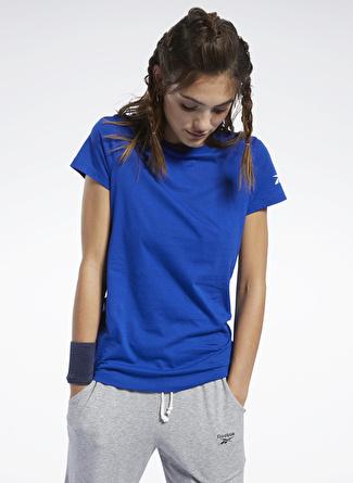 Reebok Workout Comm Kadın Mavi T-Shirt