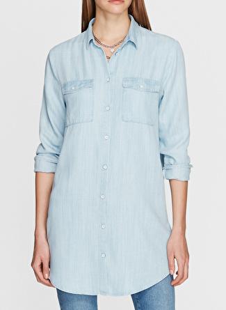 Mavi Açık İndigo Gömlek