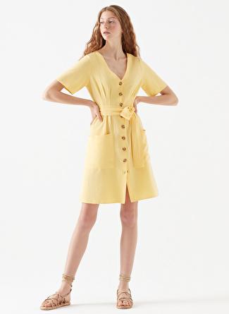 Mavi V Neck Sundress Elbise