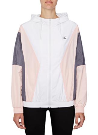 Calvin Klein Pembe Beyaz Ceket