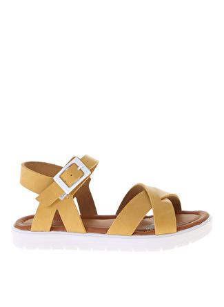 Pink Step Sarı Sandalet