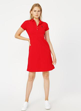 U.S Polo Assn. Kırmızı Elbise