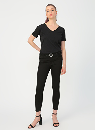 Loft LF 2018627 Nicole Arya Black Wash W Pnt Denim Pantolon