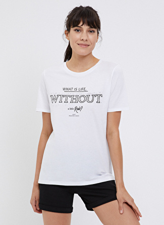 Loft LF 2024707 Off White W Tss T-Shirt