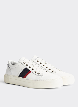 Tommy Hilfiger Fashion Th Leather Cupsole Sneaker