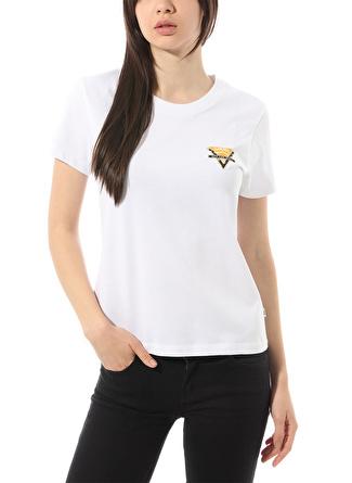 Vans VN0A4DNZWHT1 Polka Ditsy Triangle Beyaz T-Shirt