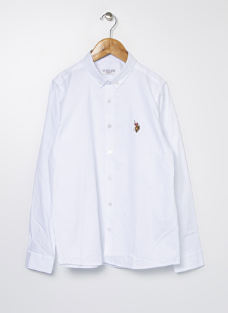 U.S Polo Assn. Beyaz Erkek Çocuk Gömlek