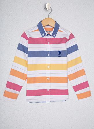 U.S Polo Assn. Nar Çiçeği Erkek Çocuk Gömlek
