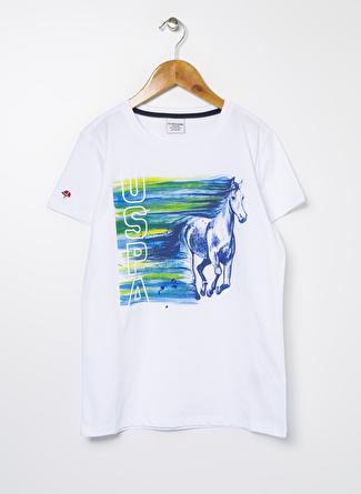 U.S Polo Assn. Beyaz Erkek Çocuk T-Shirt