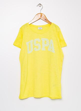 U.S Polo Assn. Sarı Kız Çocuk T-Shirt