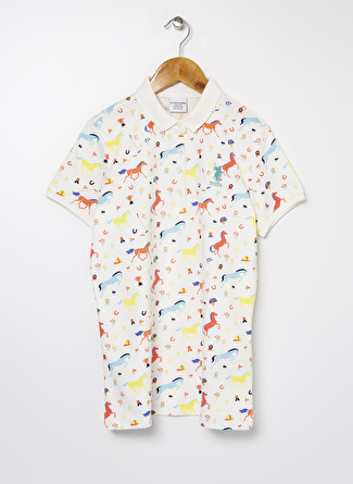 U.S Polo Assn. Beyaz Kız Çocuk T-Shirt