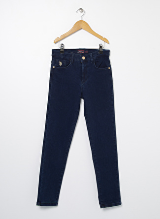 U.S Polo Assn. Mavi Kız Çocuk Denim Pantolon