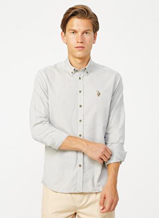 U.S Polo Assn. Haki Erkek Gömlek