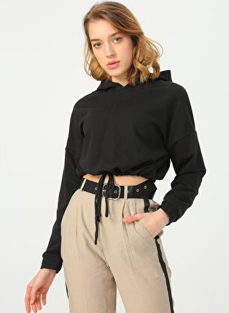 Quzu Siyah Sweatshirt