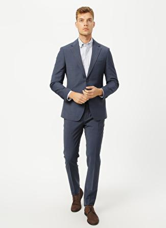 Network Ceket Yaka Lacivert - Mavi Takım Elbise