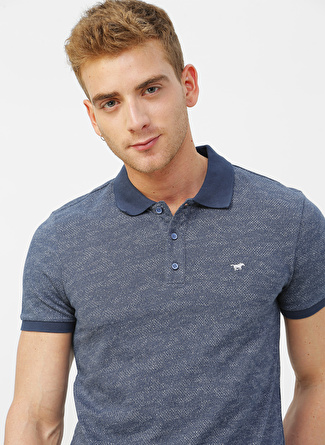 Mustang Desenli Erkek Polo T-Shirt
