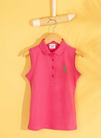 U.S Polo Assn. Fuşya Kız Çocuk T-Shirt