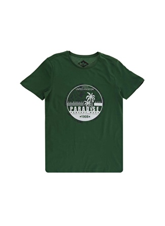 Lee Cooper Paradise Yeşil T-Shirt