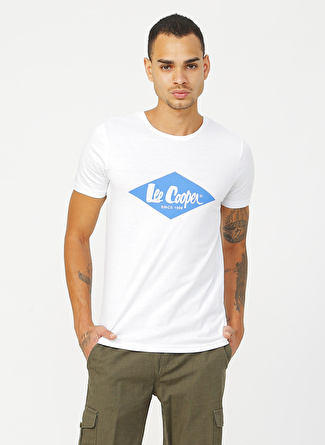 Lee Cooper Summerlogo Beyaz T-Shirt