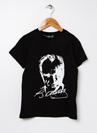 Limon Company Kız Çocuk Baskılı Siyah T-Shirt