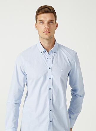 Beymen Business Beyaz- Lacivert Gömlek