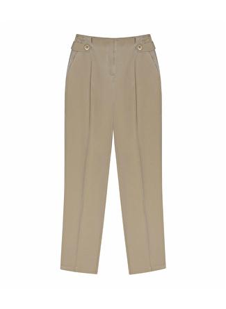 İpekyol Pilili Düğmeli Parlak Pantolon
