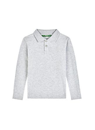 Limon Company Düz Gri Melanj Erkek Çocuk T-Shirt