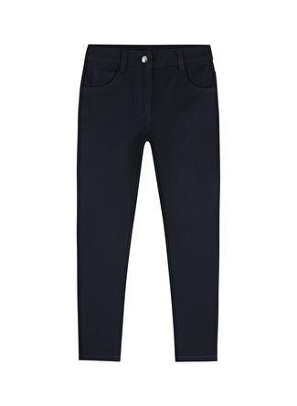 Limon Company Düz Siyah Kız Çocuk Pantolon