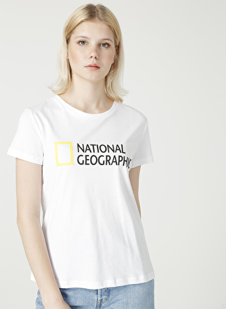 National Geographic Beyaz T-Shirt