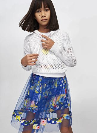 Tyess B&G Beyaz Kız Çocuk Kazak