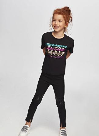 Tyess B&G Siyah Kız Çocuk T-Shirt