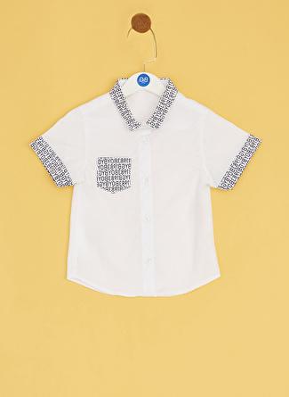Bg Baby Beyaz Erkek Bebek Gömlek