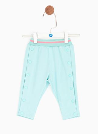 Bg Baby Mavi Kız Bebek Eşofman Altı
