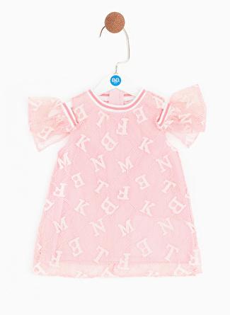 Bg Baby Pembe Kız Bebek Elbise