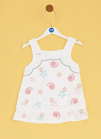 Bg Baby Beyaz Kız Bebek Elbise