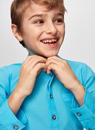 Nebbati Mavi Erkek Çocuk Gömlek