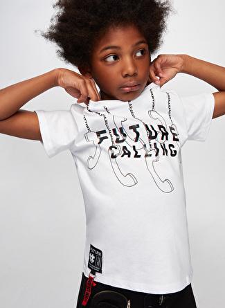 Nebbati Beyaz Erkek Çocuk T-Shirt