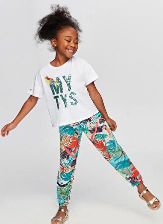 Tyess B&G Renkli Kız Çocuk Eşofman Altı