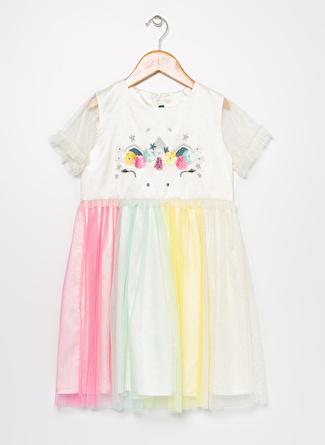 Limon Company Kız Çocuk Çok Renkli Elbise