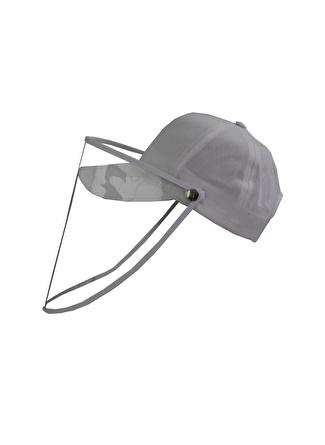 Bay Şapkaci Koruyucu Yüz Siperli Beyaz Şapka