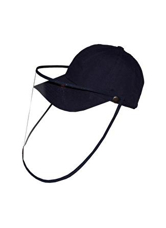 Bay Şapkaci Koruyucu Yüz Siperli Lacivert Şapka