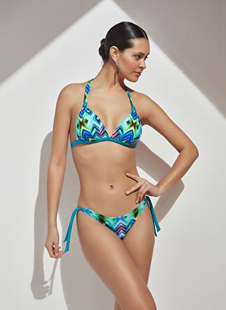 BELLİSA Bağlamalı Renkli Bikini Takım