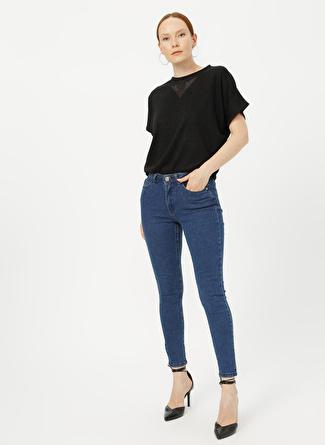 Fabrika Comfort Düz İndigo Denim Pantolon