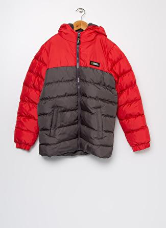 National Geographic Düz Kırmızı Erkek Çocuk Mont